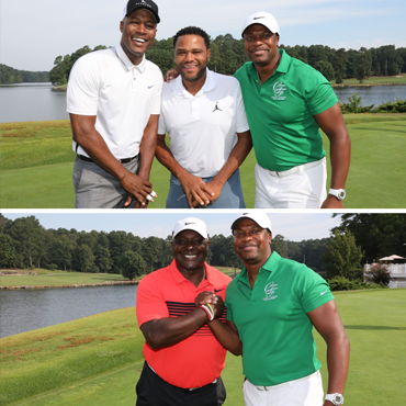 Chris Tucker With Celebrities at a Charity Golf Event