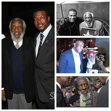 Assorted Images of Chris Tucker With the Late Dick Gregory